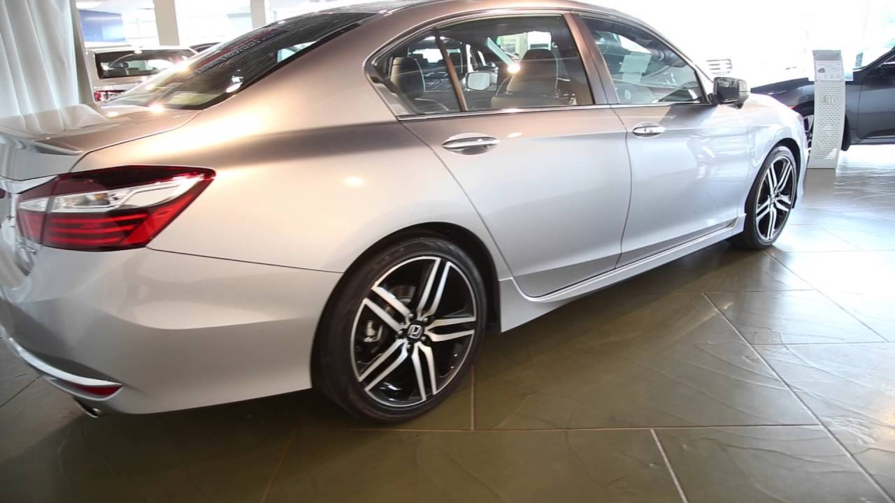 Honda Accord Sport 2016 Silver >> 2016 Honda Accord Sport W Honda Sensing Sedan In Silver Youtube