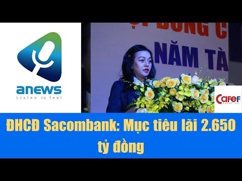 ĐHCĐ Sacombank Mục Tiêu Lãi 2 650 Tỷ đồng