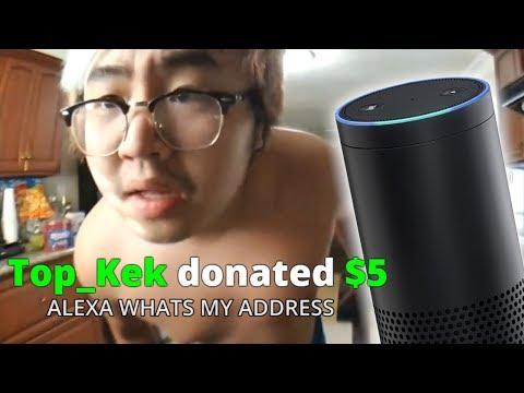 VIEWERS MAKE ALEXA LEAK MY ADDRESS - Alexa Text to Speech