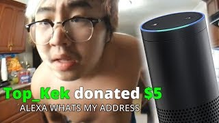 VIEWERS MAKE ALEXA LEAK MY ADDRESS - Alexa Text to Speech thumbnail