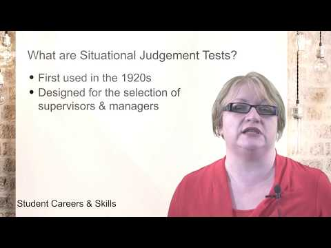 What are Situational Judgement Tests? (SJTs Part 1/6) - YouTube