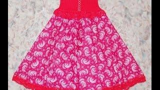 Сарафан Русский стиль - 2 часть - Crochet sarafan - вязание крючком