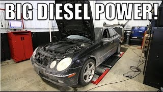 My Turbo Diesel Mercedes Made BIG Power On The Dyno With A Tune & Exhaust + Fuel Economy Results