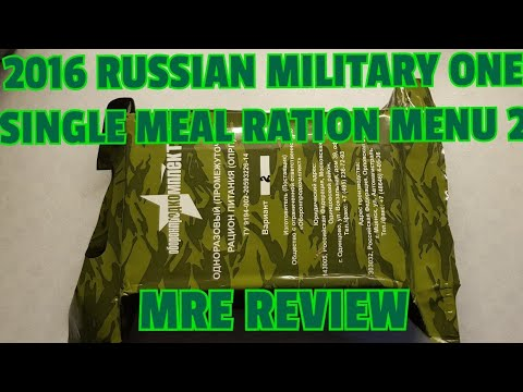 ✔ MRE REVIEW ☆ 2016 Russian Military one Single Meal Ration Menu2 ☆ GERMAN ☆ MRE ☆ MEAL READY TO EAT