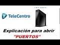 Como abrir los puertos de Telecentro modem sagemcom fast 3686 ac