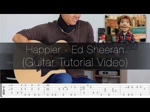 Ed Sheeran Happier - Fingerstyle Guitar Lesson FREE TABS Tutorial - Rodrigo Yukio