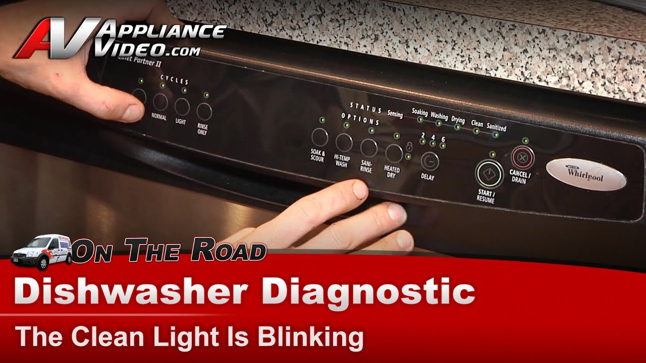 Whirlpool Maytag Dishwasher Clean Light Blinking Shorted Heating Element Du1100xtps1 You