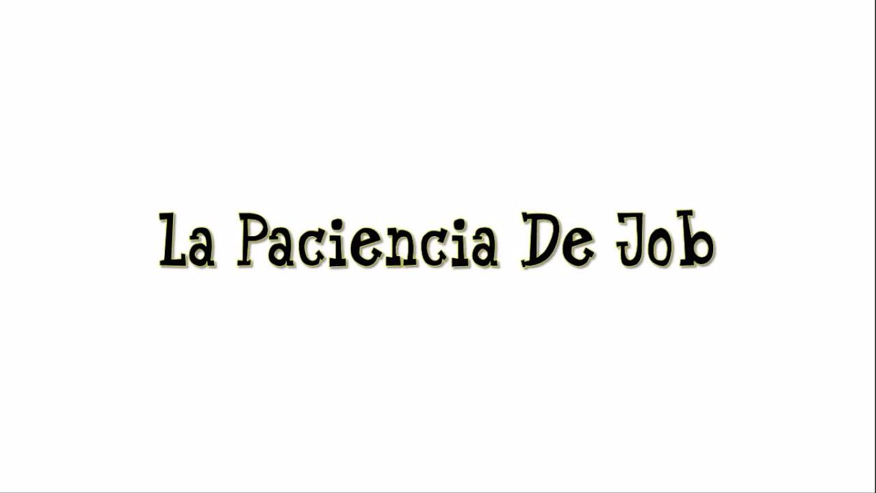 La Paciencia De Job | Historias de la Biblia para Niños de 3 a 5 ...