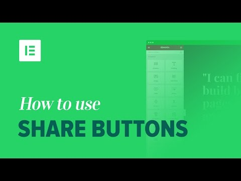 Elementor Share Buttons: Easily Add Share Buttons on WordPress (Pro Feature)