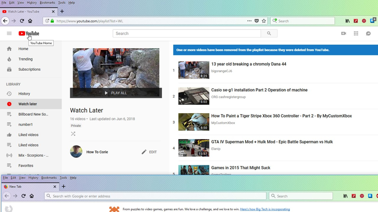 Youtube Watch Later Favorites Playlist Gone Missing Fixed HOW TO