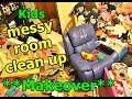 Kids Messy room clean up | kids room makeover