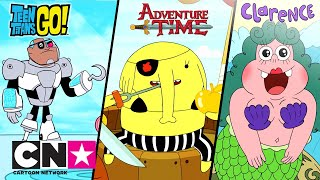 Юные титаны, вперед! + Время приключений + Кларенс | Cartoon Network