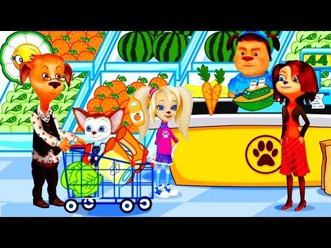 Барбоскины: Игра супермаркет #1  Мамины помощники идут за покупками в супермаркет! Обучающая игра!
