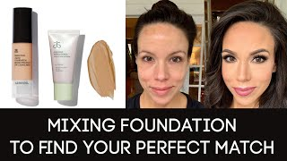 Mixing foundation for the perfect match