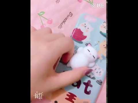 Mochi Cute Cat Squishy Squeeze Healing Fun Kid Kawaii Toy Stress Reliever Decor