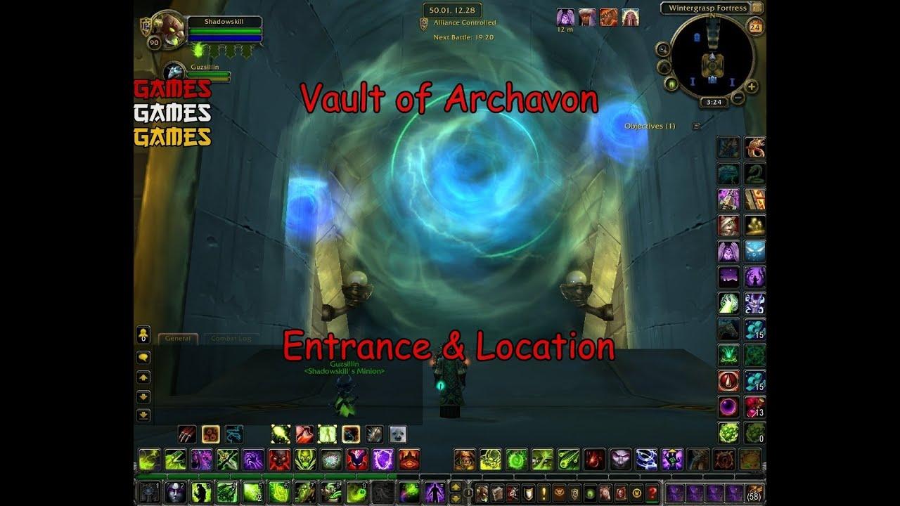 Dragon Soul Raid Location: Vault Of Archavon Raid Entrance & Location