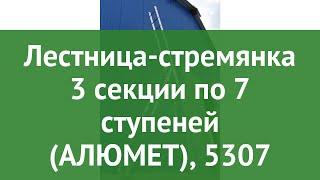Лестница-стремянка 3 секции по 7 ступеней (АЛЮМЕТ), 5307 обзор 25386 производитель Алюмет (Россия)