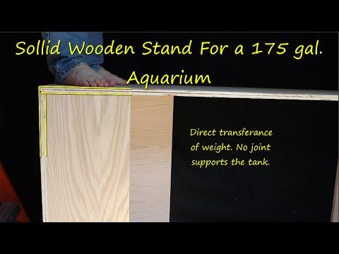 DIY Sollid Wooden Aquarium Stand Part A