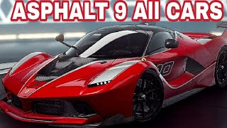 Asphalt 9 Legends - All CARS (Class A,B,C,D,S)