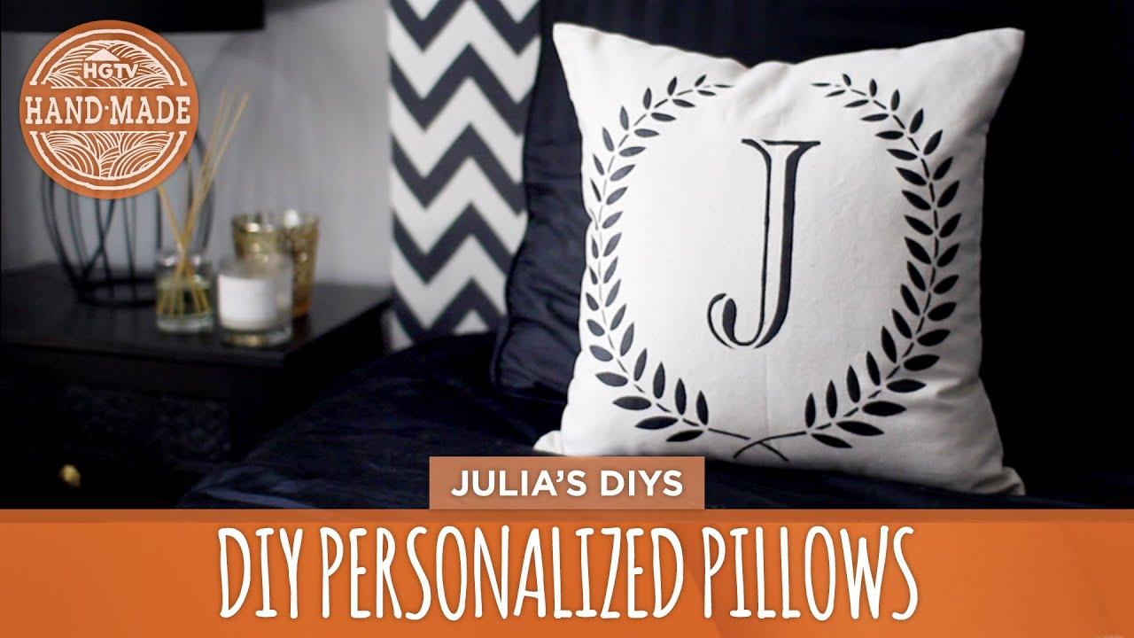 diy personalized pillows 3 ways hgtv handmade youtube