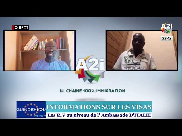 GUINDEKKOU du 04/09/2020 : INFORMATIONS SUR LES VISAS