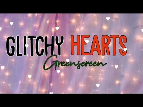 Glitch Heart Green Screen Overlay