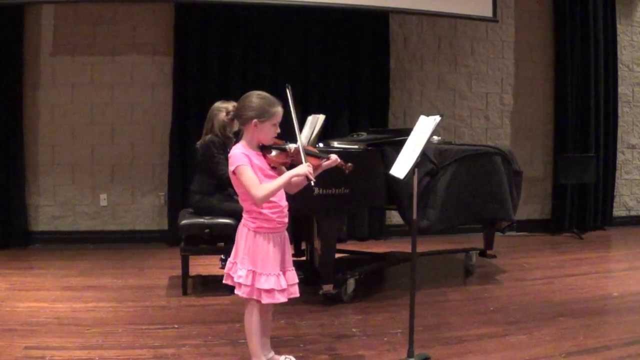 Gwen\'s June 2013 violin recital - Dress Rehersal - YouTube