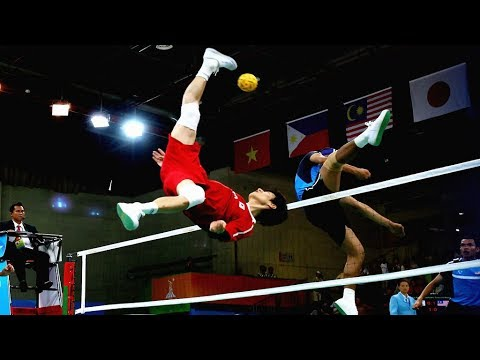 Volleyball + Football = Sepak Takraw (HD)