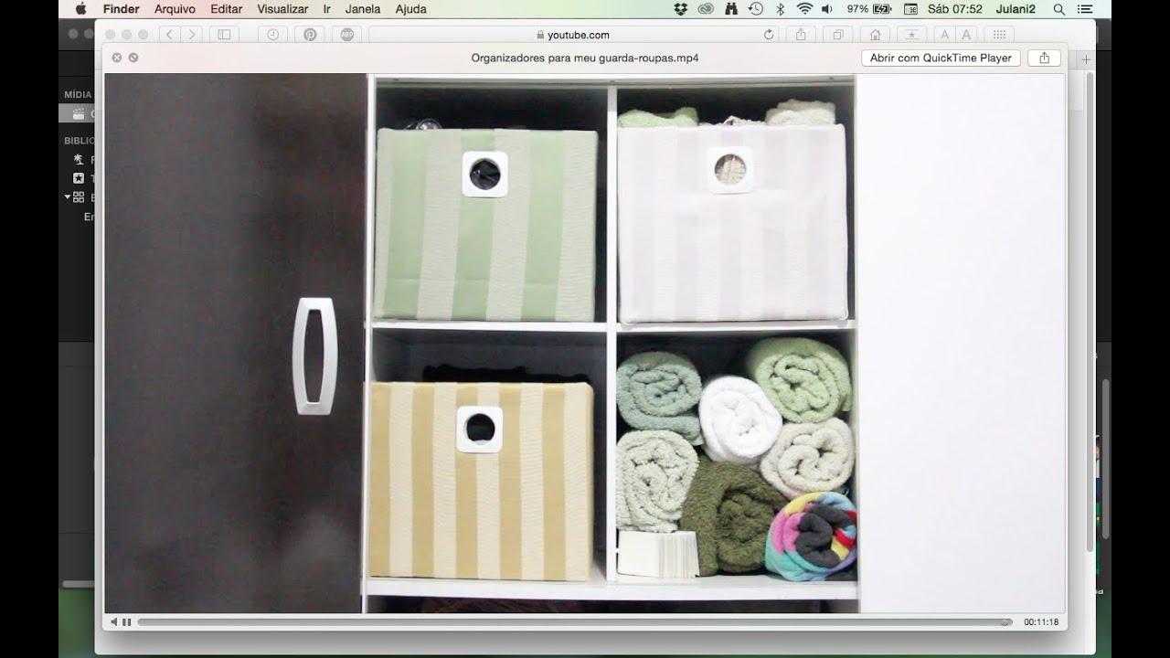 Fabuloso DIY Organizadores para meu guarda-roupas ✂ Artesanato - YouTube RZ55