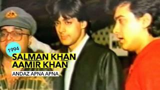 Salman Khan & Aamir Khan Launching Andaz Apna Apna (1994)