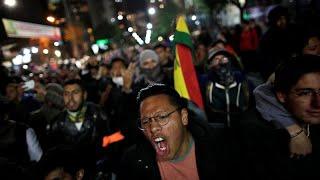 Los bolivianos protestan ante un posible fraude electoral a favor de Evo Morales