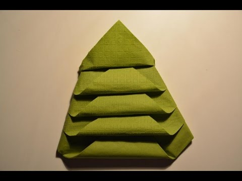 weihnachtsdeko f r den tisch tannenbaum napkin folding youtube. Black Bedroom Furniture Sets. Home Design Ideas