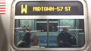 NYC Subway Special: R160 (W) Exterior Destination Sign To Midtown-57th Street-7th Avenue