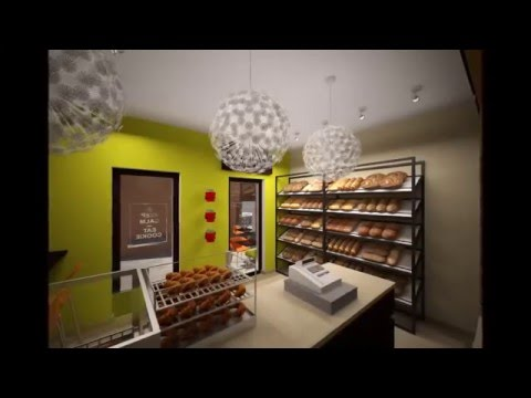 Bakery Shop Interior Design by Target Group - YouTube