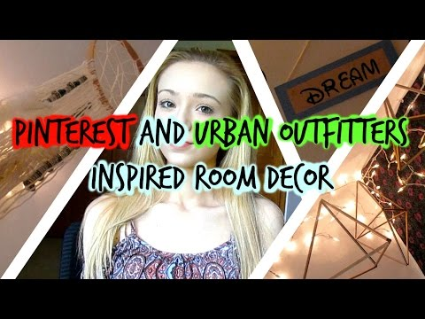 Pinterest and Urban Outfitters Inspired Room Decor Video!! (Room Makeover)