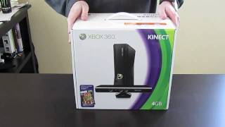 XBOX 360 4GB KINECT unboxing