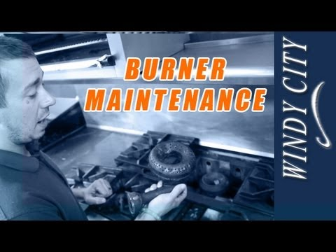 Stove top burner cleaning & maintenance how to tutorial DIY Windy City Restaurant Parts