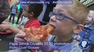 CRUSADE promo code at PapaJohns.com - 20% off for you & 20% for the kids