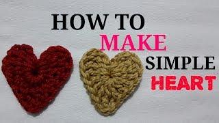 Download Video Cara merajut bentuk love hati ||how to crochet heart MP3 3GP MP4