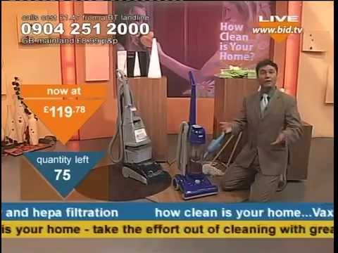 Vax Powermax Upright Vacuum & Oasis Complete Carpet Washer Being Sold On Bid TV