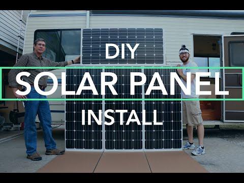 Building + Installing a DIY Custom RV Solar Panel Mount
