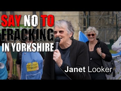 Yorkshire Anti-Fracking Rally: Janet Looker