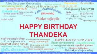 Thandeka   Languages Idiomas - Happy Birthday
