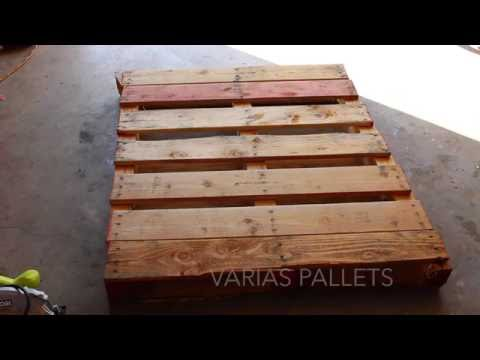 pared de pallets parte  1  YouTube