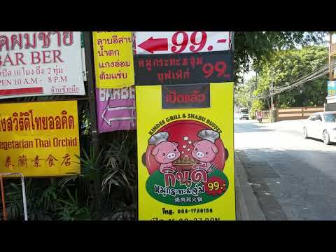 Vegetarian Thai Orchid Restaurant. Delicious food. A dollar a plate.