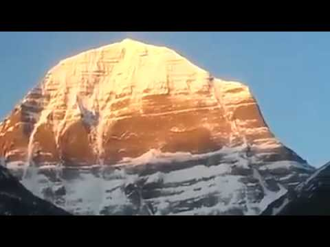 World biggest golden mountain kailash in tibet