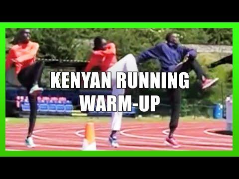 Athletes warming up