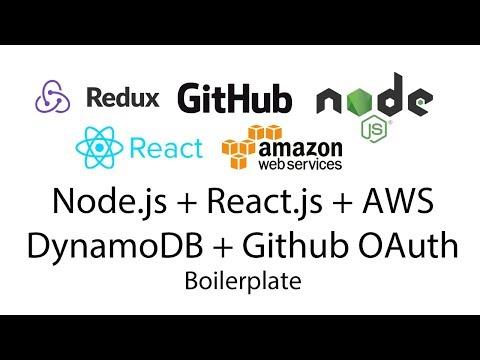 AWS DynamoDB, Node js, React js, Github OAuth Login Boilerplate