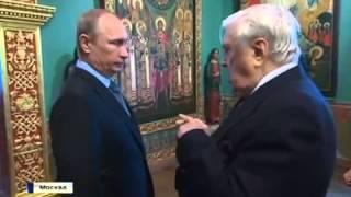 видео Илья Глазунов показал президенту свой юбилейный подарок