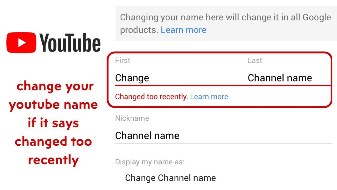 how to change your nickname on youtube